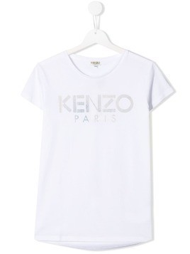 Kenzo Kids TEEN logo printed T-shirt - White
