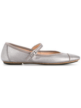 Gielle Kids straped ballerinas - Metallic
