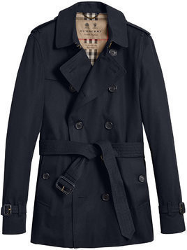 Burberry The Chelsea – Short Trench Coat - Black