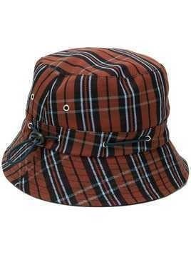 YMC checked bucket hat - Brown