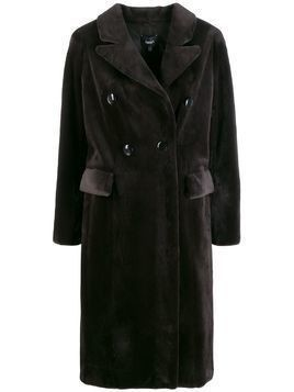 Arma double-breasted coat - Brown