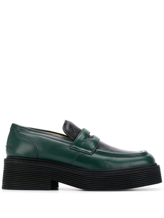 Marni thick sole loafers - Green