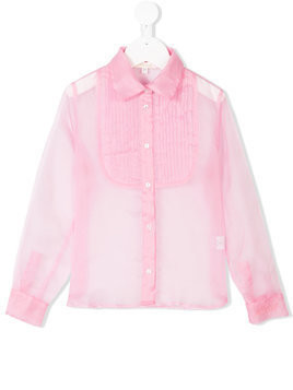Miss Grant Kids pleated bib shirt - Pink