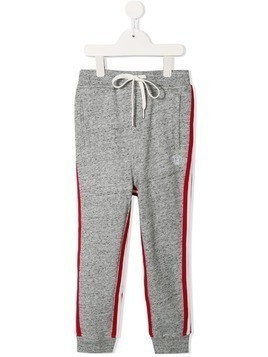 Mostly Heard Rarely Seen 8-Bit side stripe track pants - Grey