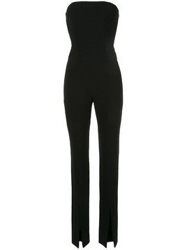 Isabel Sanchis stretch slim strapless jumpsuit - Black
