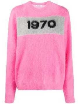 Bella Freud '1970' crew neck jumper - PINK