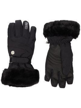 Colmar waterproof faux-fur ski gloves - Black