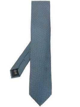 Ermenegildo Zegna woven embroidered tie - Blue