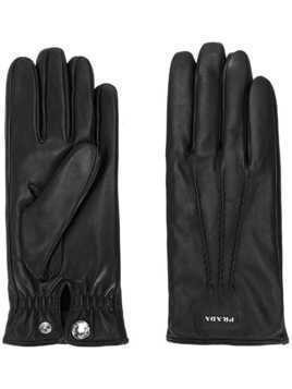 Prada leather gloves - Black