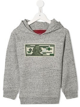 Mostly Heard Rarely Seen 8-Bit USD print hoodie - Grey