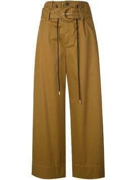 Proenza Schouler White Label Cotton Paper Bag Pants - Brown