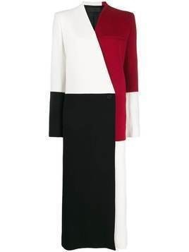 Haider Ackermann colour-block oversized coat - Black