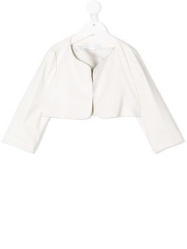 Colorichiari cropped occasion jacket - White