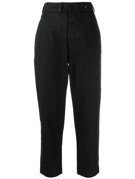 Margaret Howell high rise tapered jeans - Black