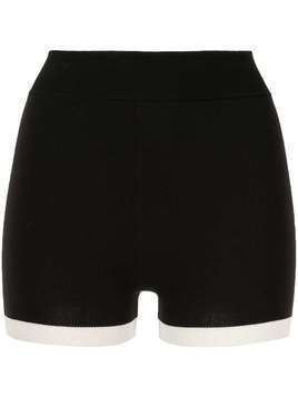 Nagnata Yoni elasticated knit shorts - Black