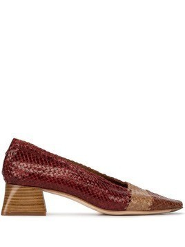 Miista Eivissa mesh pumps - Brown