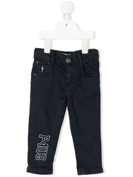 Cesare Paciotti 4Us Kids embroidered jeans - Blue
