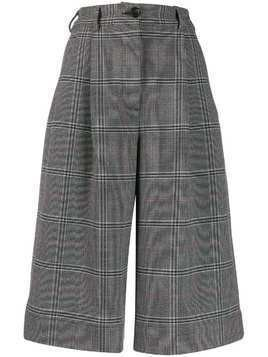 Essentiel Antwerp Tarifa glen-plaid shorts - Grey