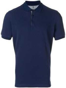 Brunello Cucinelli short-sleeved polo shirt - Blue