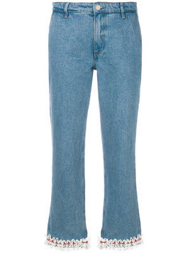 Jour/Né lace trim jeans - Blue