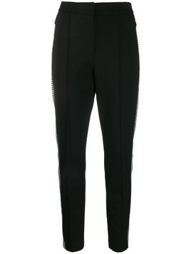 Escada Sport houndstooth stripe trousers - Black