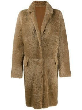 Yves Salomon Meteo Curly Merinos coat - Neutrals