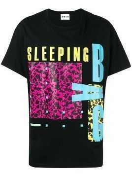 Amen Sleeping Bag print T-shirt - Black