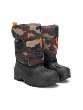 Ralph Lauren Kids camouflage padded shaft boots - Green
