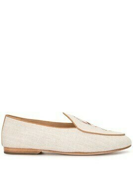Shanghai Tang Catch Me If You Can embroidered loafers - Neutrals