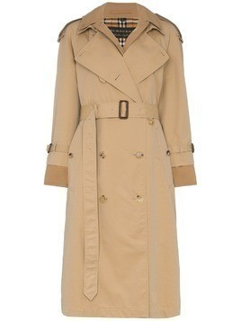 Burberry reconstructed cotton gabardine trench coat - Brown