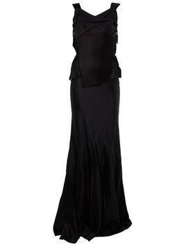Maison Margiela open back evening dress - Black