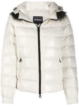 Duvetica hooded padded jacket - Neutrals