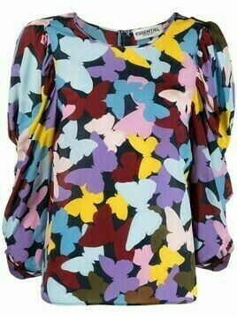 Essentiel Antwerp floral-print silk blouse - Blue