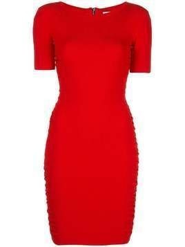 Milly ruched mini dress - Red