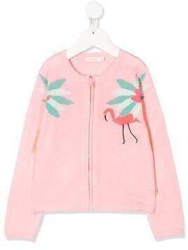 Billieblush knitted flamingo cardigan - PINK