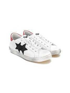 2 Star Kids TEEN double stars sneakers - White