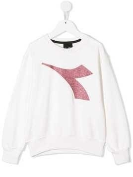Diadora Junior printed logo sweatshirt - White