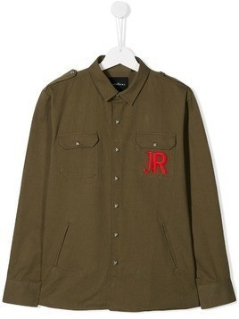 John Richmond Junior embroidered logo shirt - Green