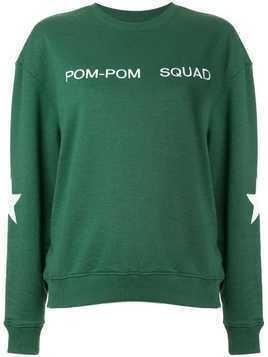 Zoe Karssen embroidered slogan sweatshirt - Green