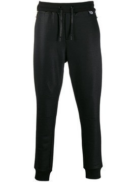 John Richmond tapered leg zip joggers - Black