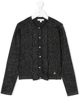 Miss Grant Kids glittery buttoned cardigan - Black