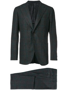 Kiton woven checked suit - Grey