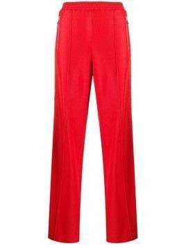 Area crystal embellished track trousers - Red