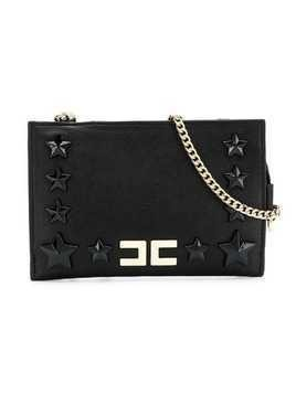 Elisabetta Franchi La Mia Bambina star stud shoulder bag - Black