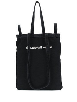 Mm6 Maison Margiela reversed logo shopping tote - Black