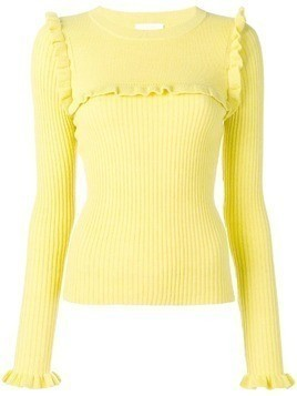 See By Chloé ruffle detail sweater - Yellow