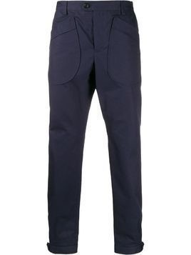 LANVIN oversized pockets chinos - Blue