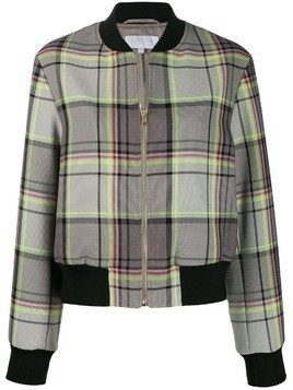 Escada Sport checked bomber jacket - Grey