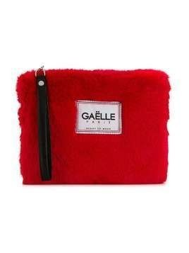 Gaelle Paris Kids logo patch clutch - Red