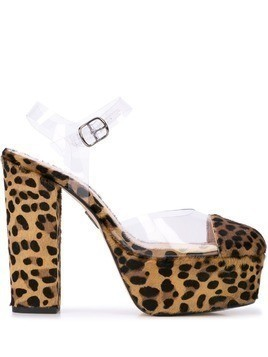 Ritch Erani NYFC Audrey leopard print pumps - Brown